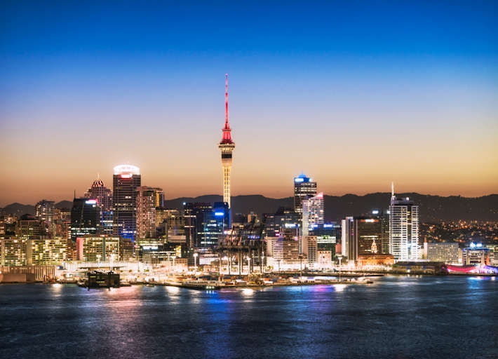 Auckland view at dusk