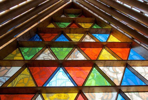 Cardboard Cathedral Christchurch in New Zealand